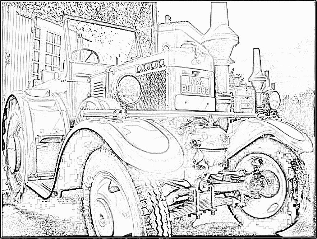 dessin tracteur simple