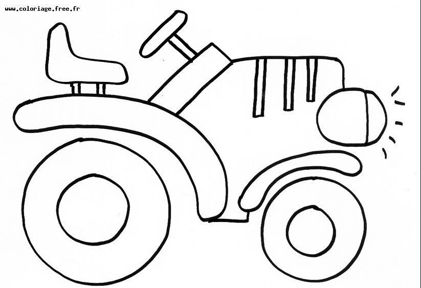 dessin à colorier tracteur agricole