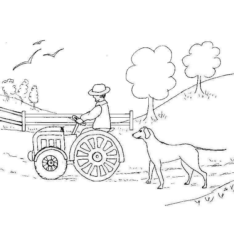 coloriage tom le tracteur
