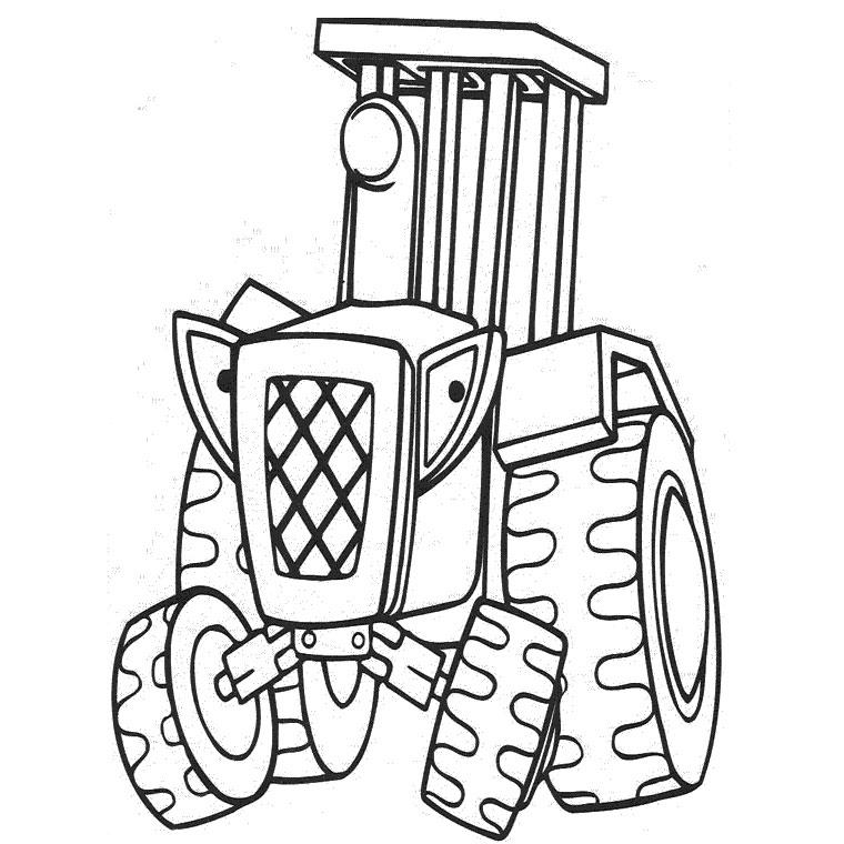 coloriage de tracteur en ligne