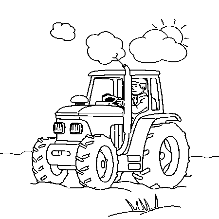 Agriculture Diesel Coloring Pages