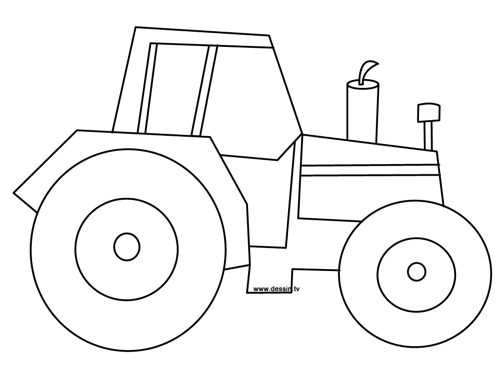 115 dessins de coloriage tracteur imprimer for Tractor template to print