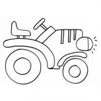 coloriage à dessiner tracteur a chenille