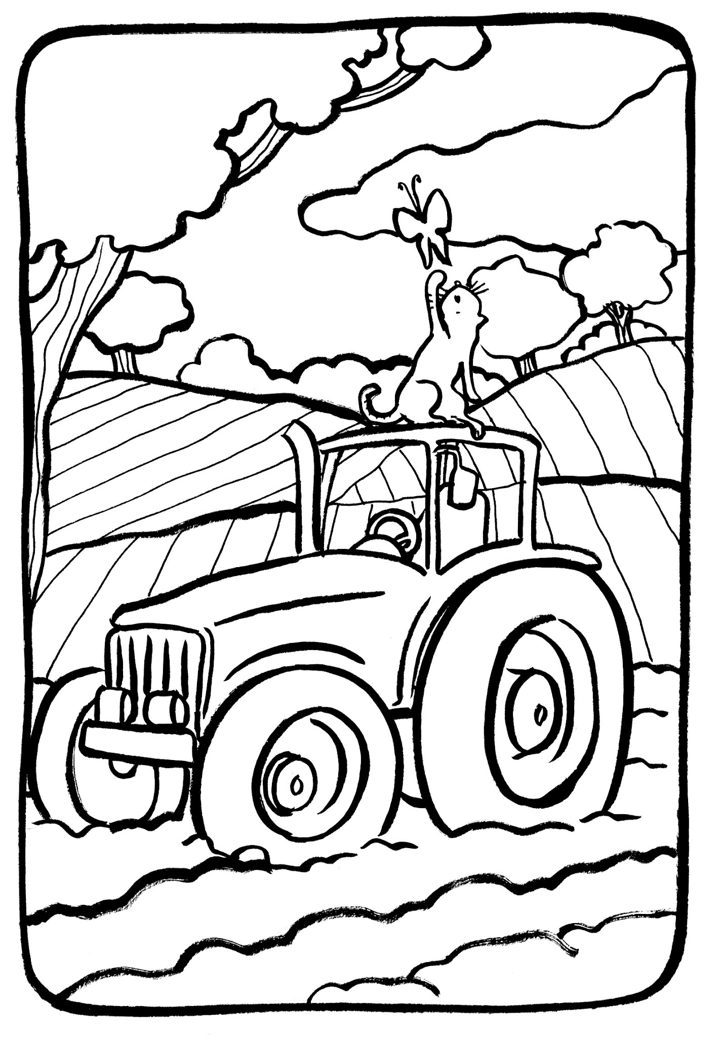 Luxe Dessin Coloriage Tracteur Agricole
