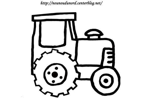 dessin tracteur tom à imprimer