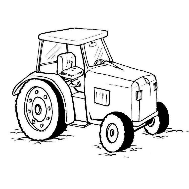 117 dessins de coloriage tracteur imprimer - Tracteur a colorier ...