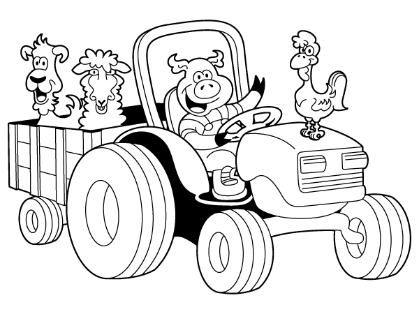 cartoon barnyard coloring pages - photo#21