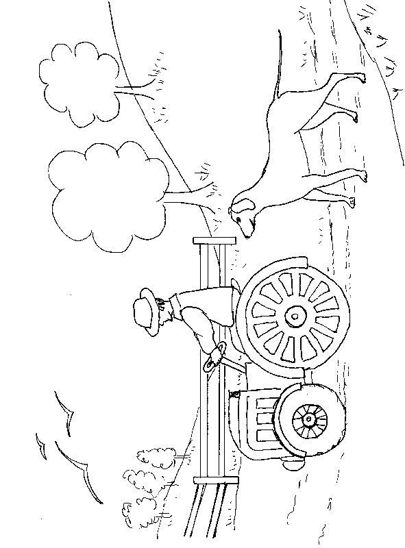 dessin à colorier de tracteur massey ferguson a imprimer