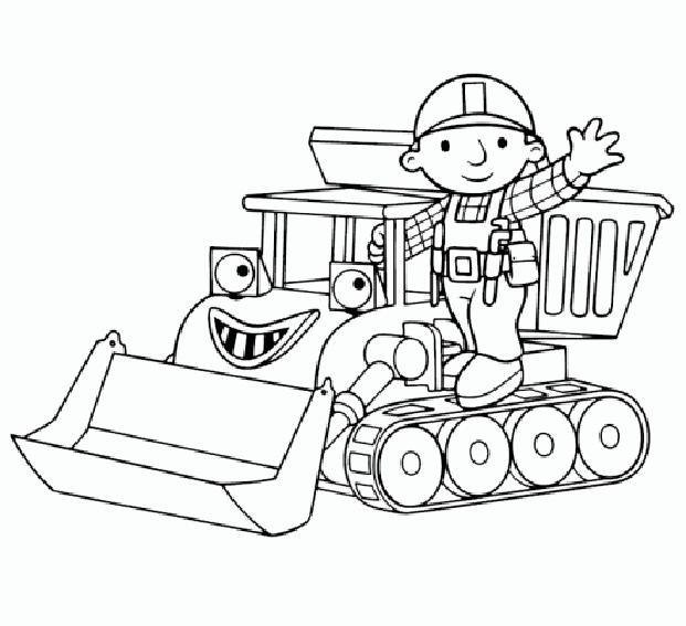 dessin � colorier 2 ans tracteur