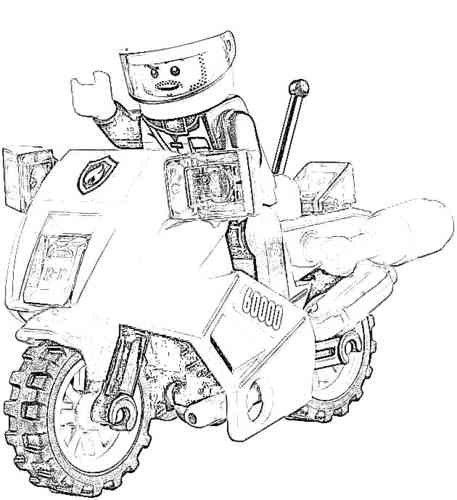 90 dessins de coloriage train lego city imprimer - Dessin a colorier playmobil moto ...