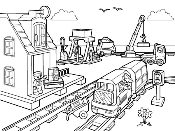 90 Dessins De Coloriage Train Lego City A Imprimer