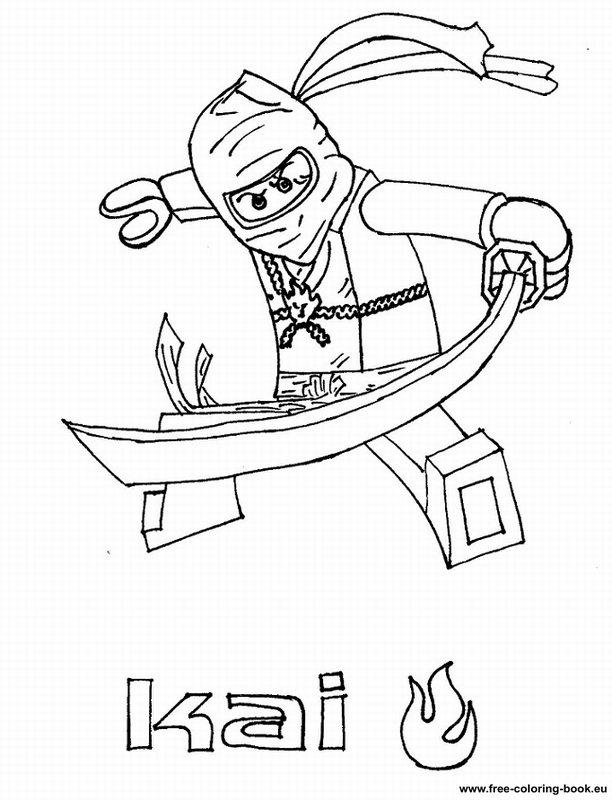ninjago coloring pages kai 2015 exo | 93 dessins de coloriage Train Lego à imprimer