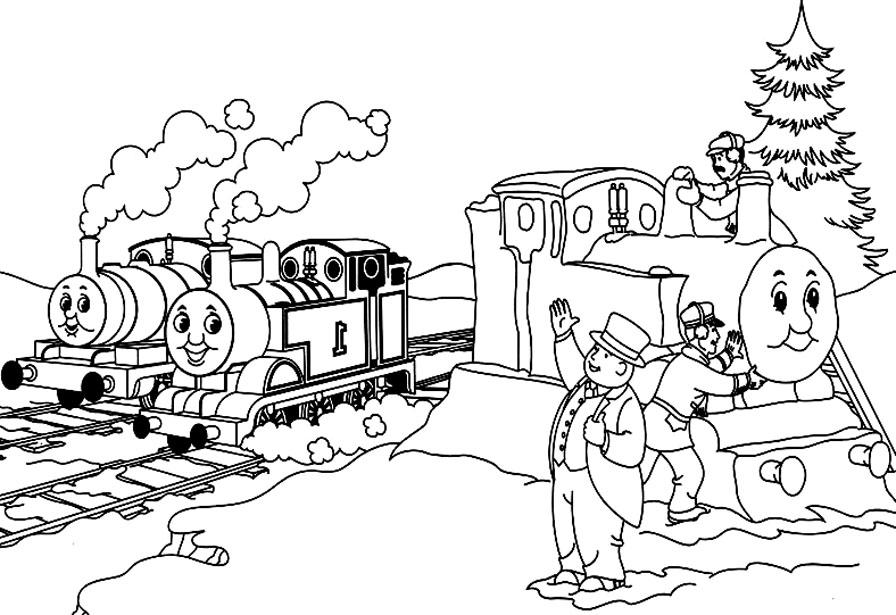 95 dessins de coloriage train thomas imprimer - Coloriage thomas ...