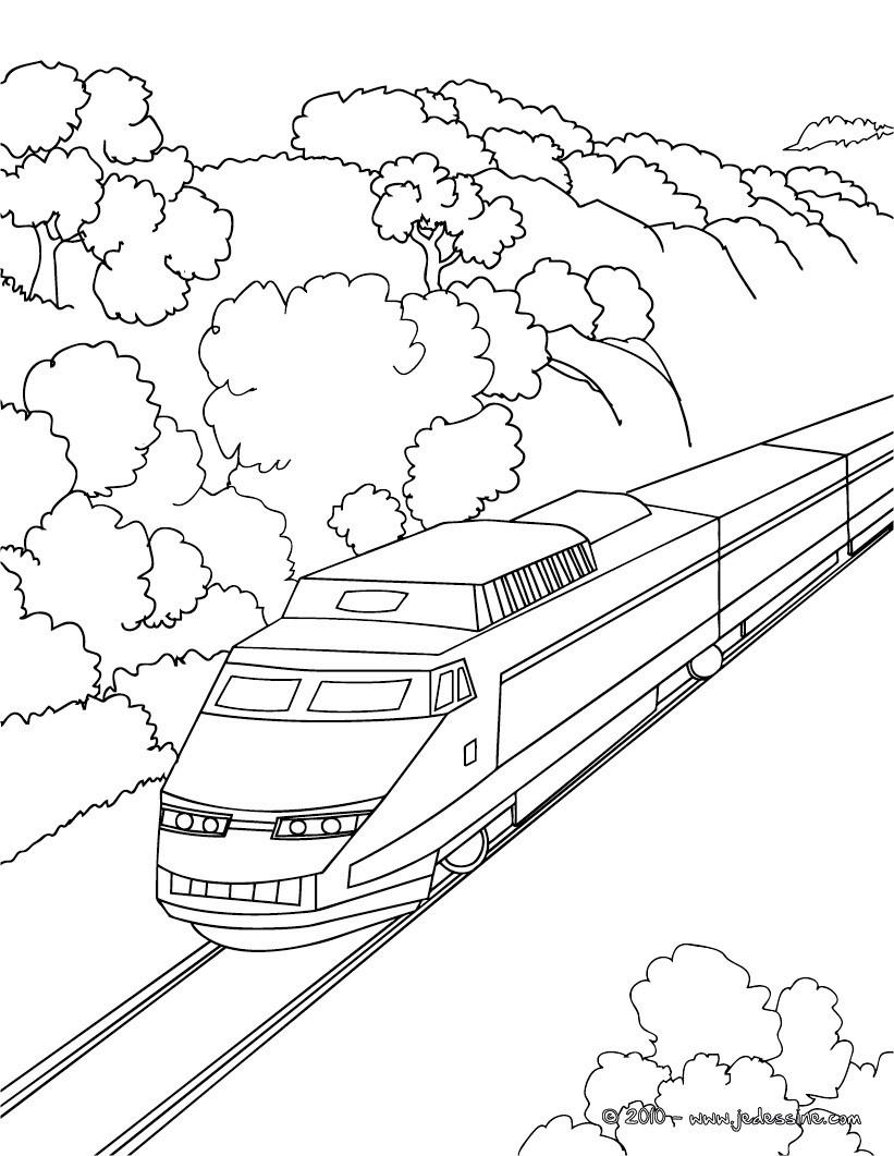 dessin de train tgv ƒ imprimer