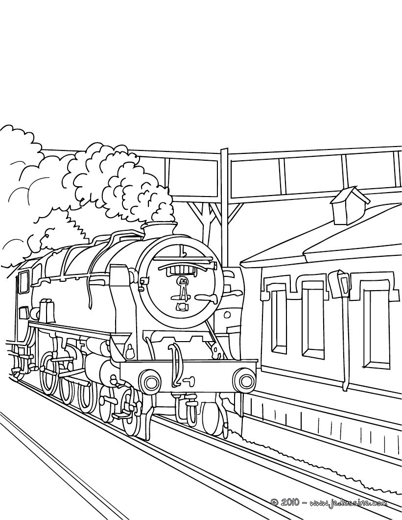 Train station coloring - Train Coloring Pages Raising Our Kids