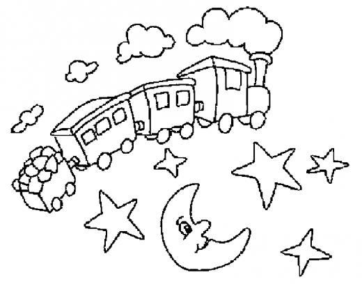 Dessin colorier train fantome - Train coloriage ...