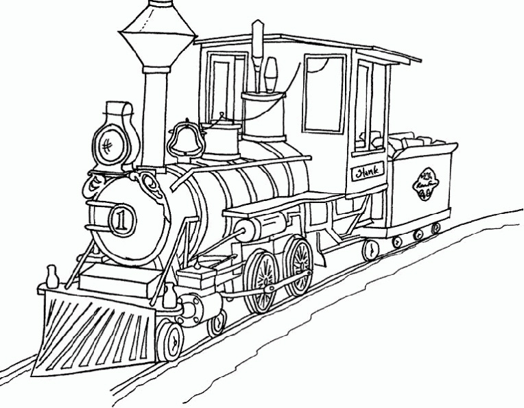 dessin rail train