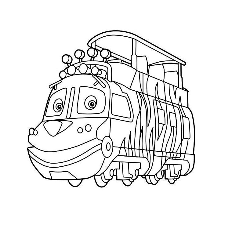 coloriage à dessiner train vapeur