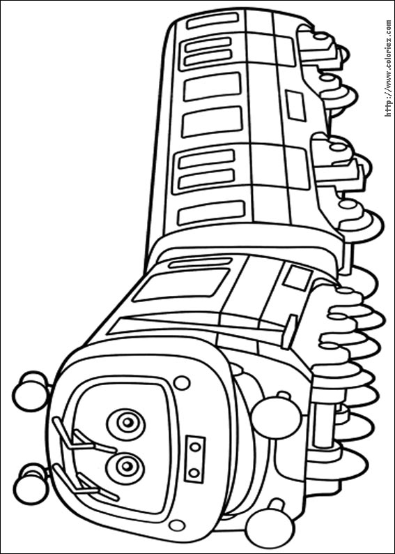 Coloriage prenom en train - Chuggington dessin anime ...