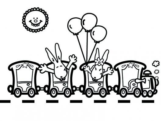 Dessin petit train imprimer - Locomotive dessin ...
