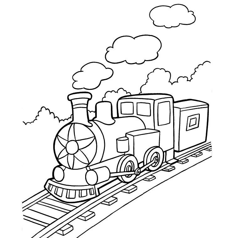 dessin à colorier petit train