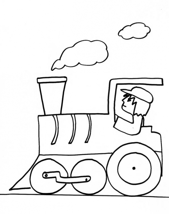 Dessin colorier train thomas a imprimer - Train en dessin ...