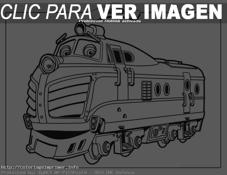 dessin à colorier à imprimer train gratuit