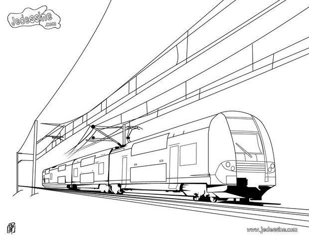 Coloriage train rer - Locomotive dessin ...
