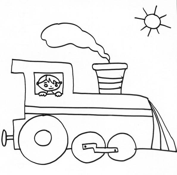 coloriage train et wagon