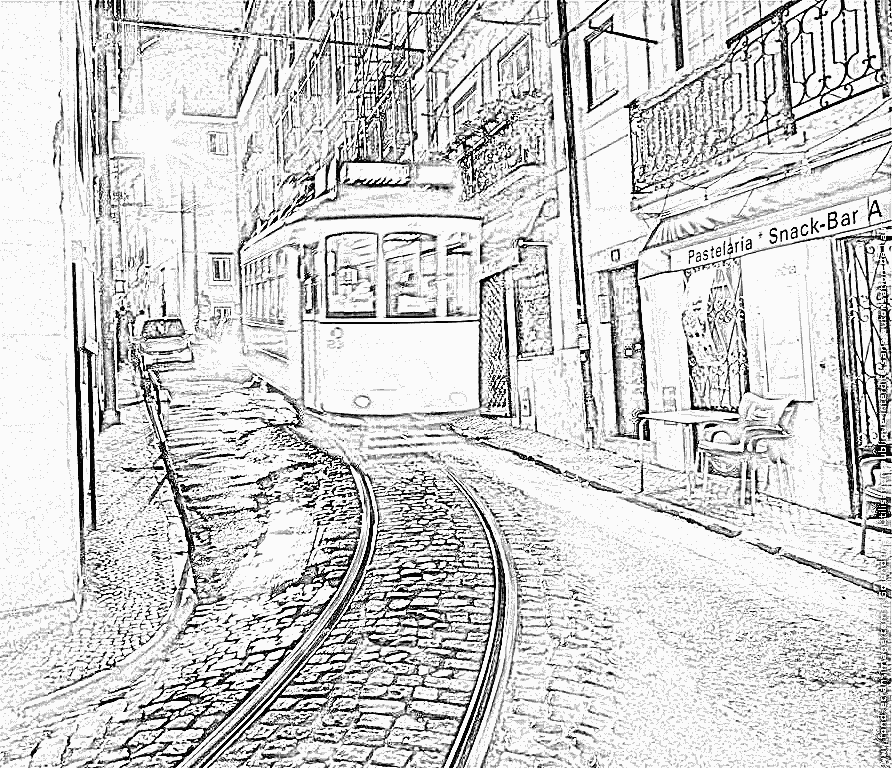 dessin tram