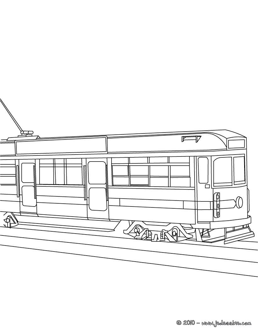 dessin coloriage à dessiner tramway