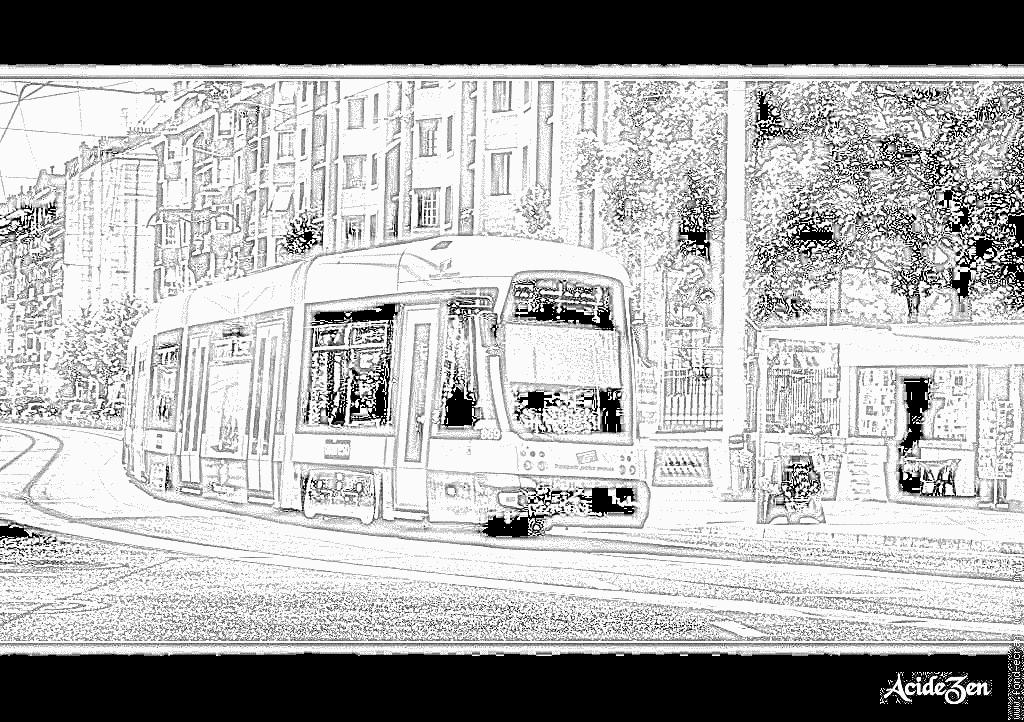 dessin dessin à colorier tramway