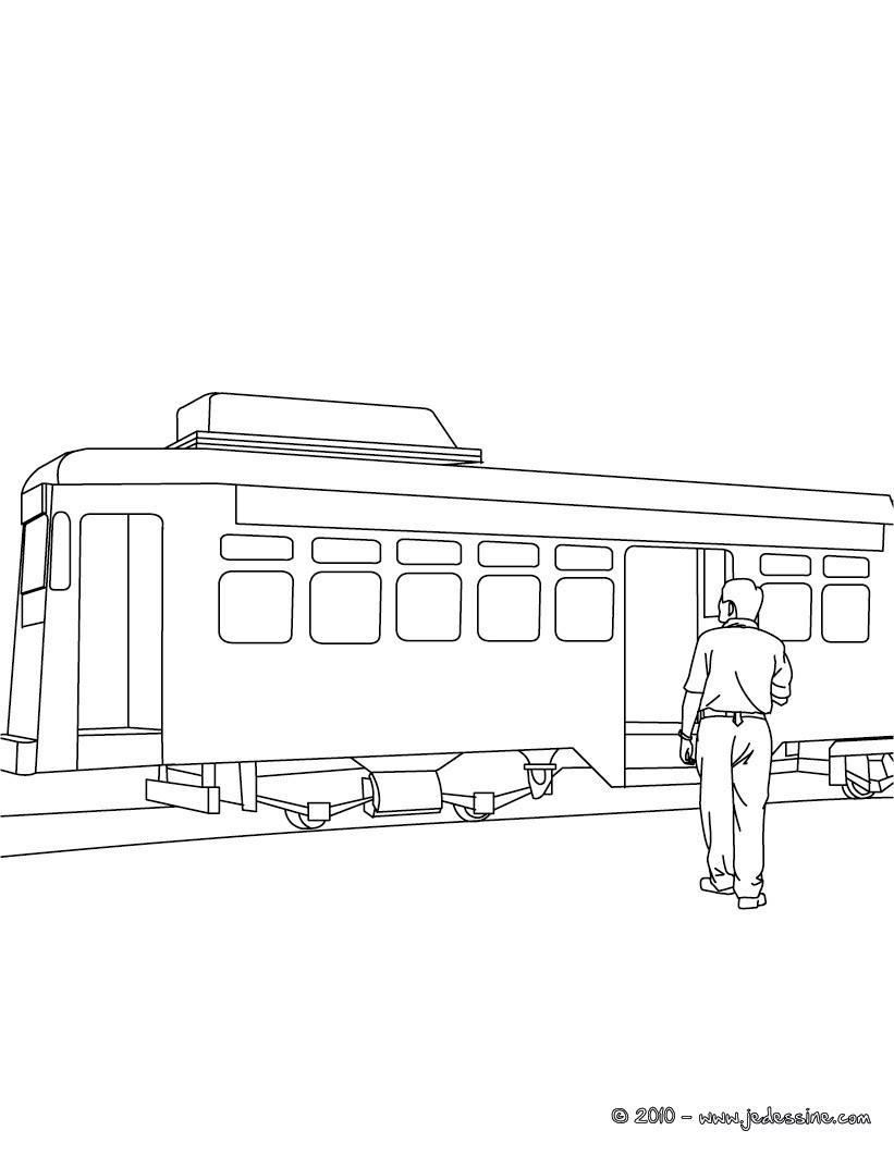 coloriage tramway gratuit