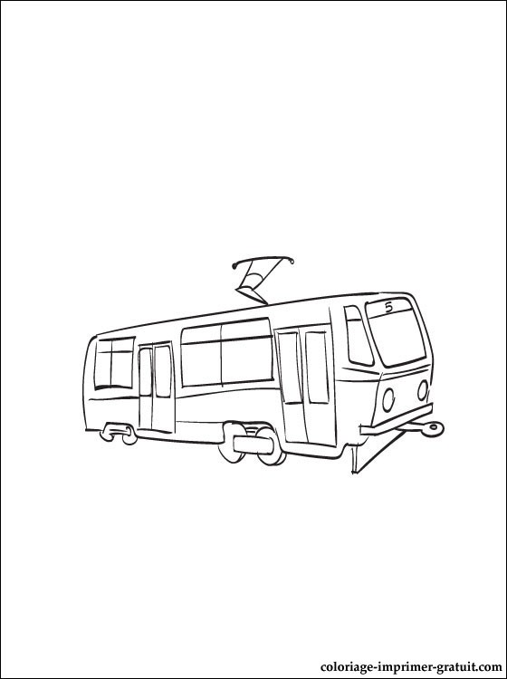 dessin coloriage tramway