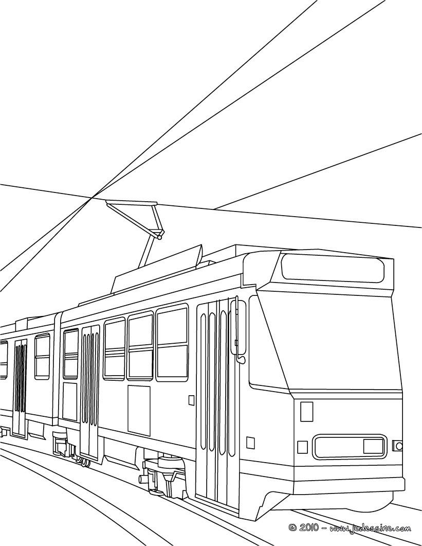 coloriage en ligne tramway