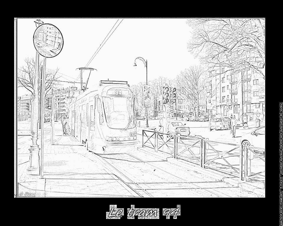 dessin tramway