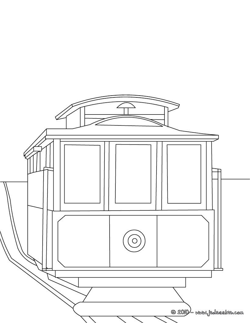 coloriage de tram