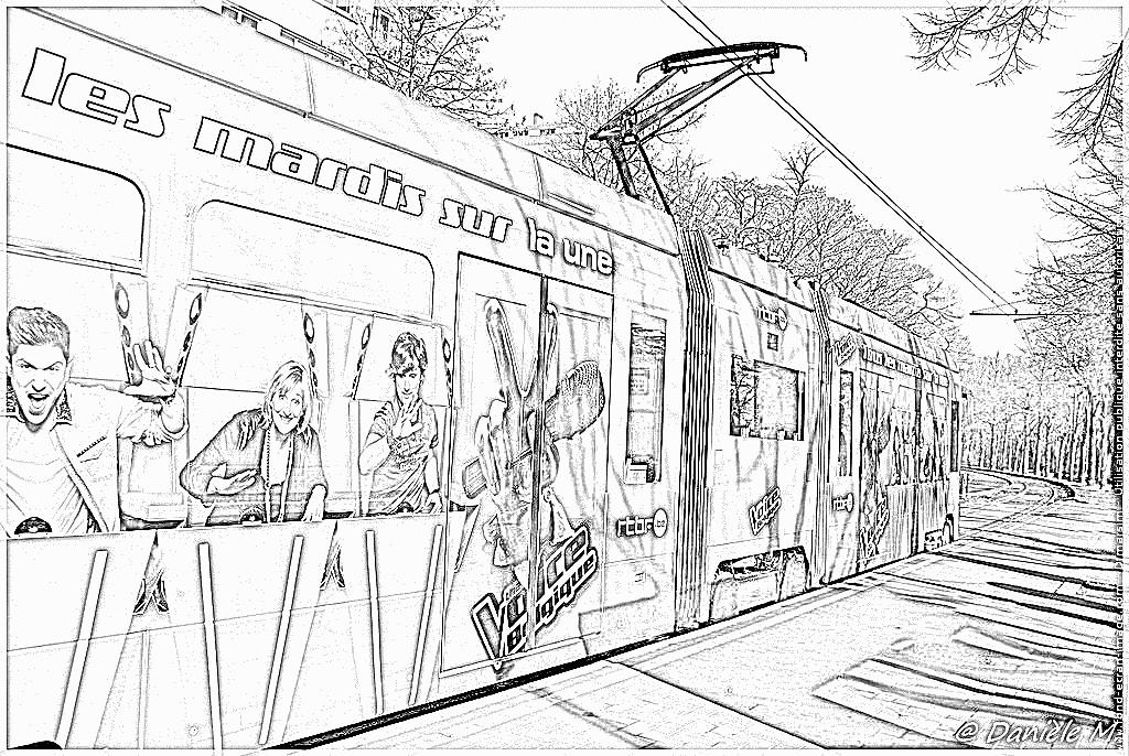 dessin tramway gratuit