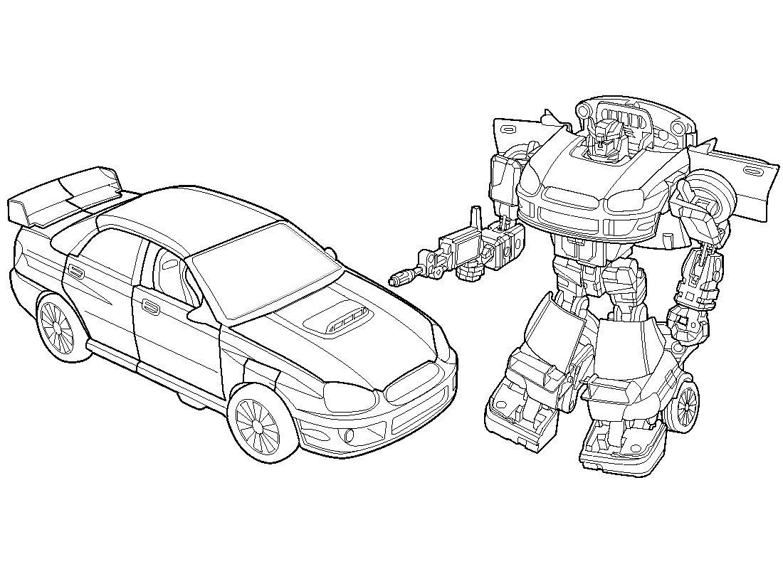 dessin à imprimer transformers bumblebee