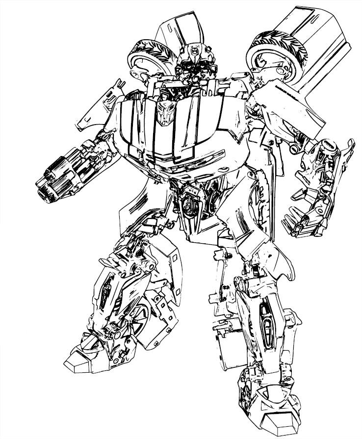 dessin à colorier transformers en ligne