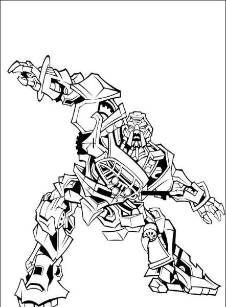 coloriage transformers 2 la revanche