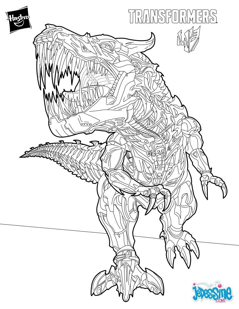 6 dessins de coloriage transformers imprimer imprimer - Coloriage robot dinosaure ...