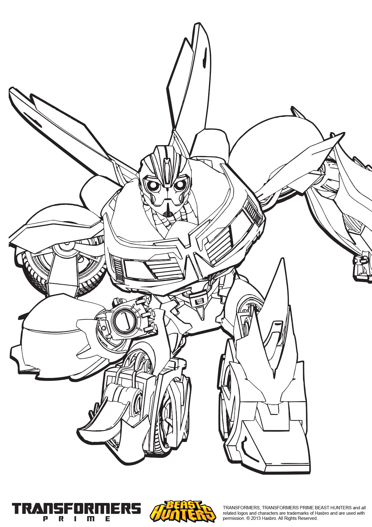 Transformers Prime A Imprimer  colorier Voir le dessin Voir le dessin
