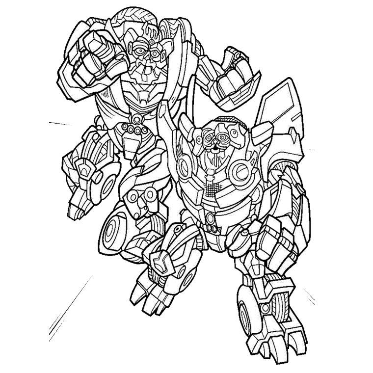 14 dessins de coloriage Transformers Prime Bumblebee à ...