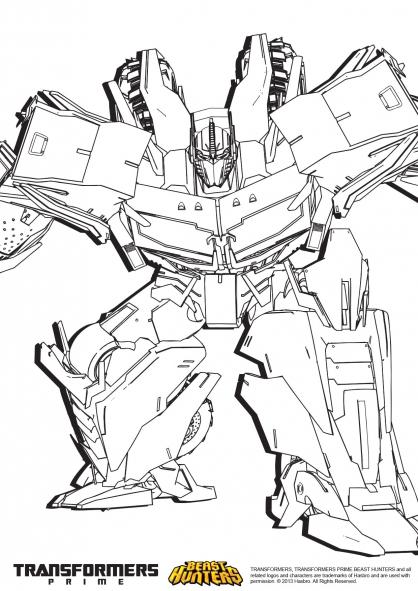 7 dessins de coloriage Transformers