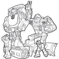 coloriage à dessiner transformers rescue bots en ligne