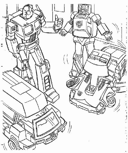 coloriage à dessiner à imprimer transformers rescue bots