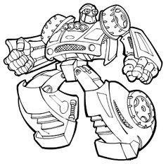 coloriage à dessiner transformers rescue bots à imprimer