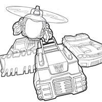 coloriage transformers rescue bots a imprimer