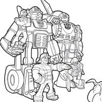 dessin de transformers rescue bots